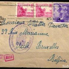 Sellos: CARTA SAN SEBASTIAN - BRUSELAS, CENSURA GUBERNAMENTAL SAN SEBASTIAN, . Lote 178620123