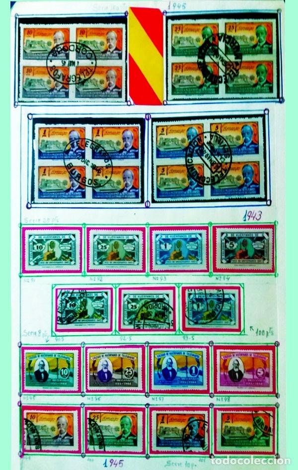 CONJUNTO DE SERIES NUEVAS Y USADAS DEL COLEGIO HUERFANOS DE TELEGRAFOS 7 SERIES + 3 SELLOS S/ DENTAR (Sellos - España - Estado Español - De 1.936 a 1.949 - Usados)