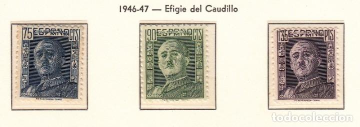 1946 GENERAL FRANCO NUMS 999 A 1001 NUEVOS SIN FIJASELLOS (Sellos - España - Estado Español - De 1.936 a 1.949 - Nuevos)