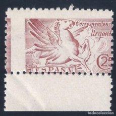 Sellos: EDIFIL 952 PEGASO 1942 (VARIEDAD...DENTADO MUY DESPLAZADO). MNH **. Lote 179198822