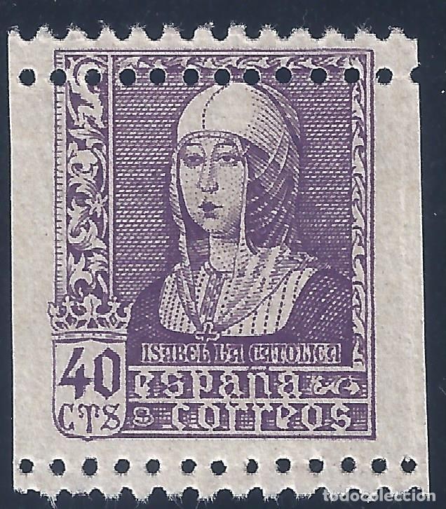 EDIFIL 858 ISABEL LA CATÓLICA 1938 (VARIEDAD...DENTADO). LUJO. MNH ** (Sellos - España - Estado Español - De 1.936 a 1.949 - Nuevos)