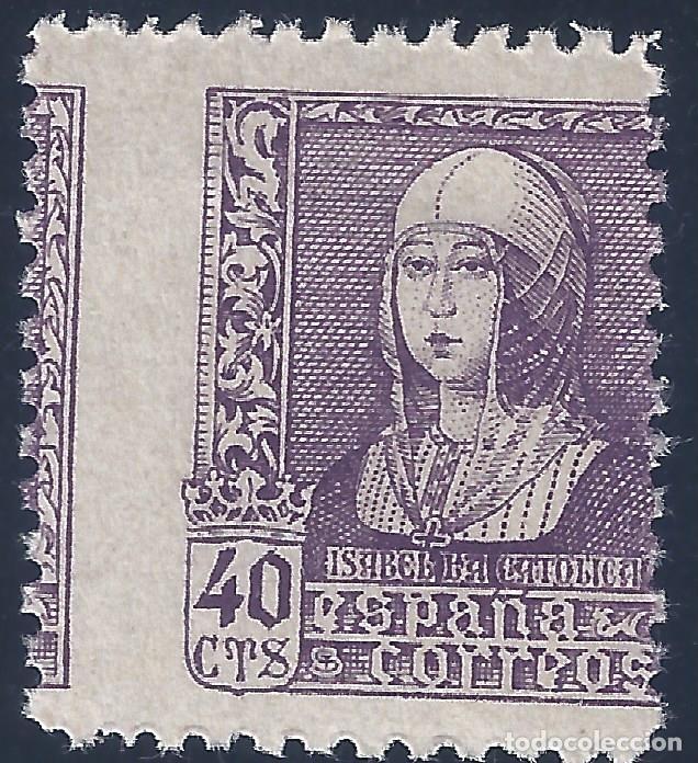 EDIFIL 858 ISABEL LA CATÓLICA 1938 (VARIEDAD... DENTADO VERTICAL MUY DESPLAZADO). LUJO. MNH ** (Sellos - España - Estado Español - De 1.936 a 1.949 - Nuevos)