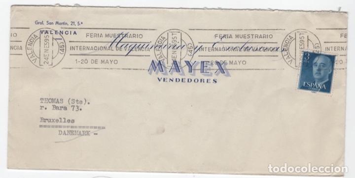 1959 SOBRE Y SELLOS FRANCO CON ERROR GEOGRÁFICO (Sellos - España - Estado Español - De 1.936 a 1.949 - Usados)