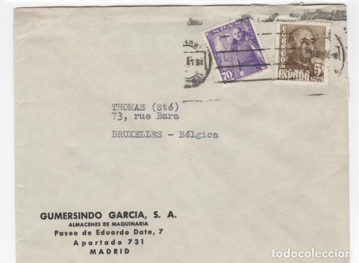 1949 SOBRE Y SELLOS FRANCO CON MATASELLOS INTERESANTE (Sellos - España - Estado Español - De 1.936 a 1.949 - Usados)