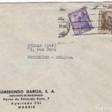 Sellos: 1949 SOBRE Y SELLOS FRANCO CON MATASELLOS INTERESANTE. Lote 179530518