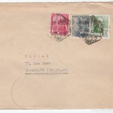 Sellos: 1949 SOBRE Y SELLOS FRANCO CON MATASELLOS INTERESANTE. Lote 179530871