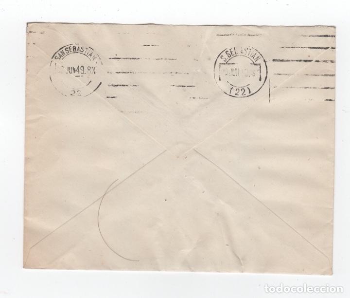 Sellos: 1949 Sobre y sellos Franco con matasellos interesante - Foto 2 - 179530975