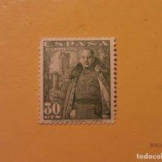Sellos: ESPAÑA 1954 - GENERAL FRANCO Y CASTILLO DE LA MOTA - EDIFIL 1025 - NUEVO.. Lote 179546725