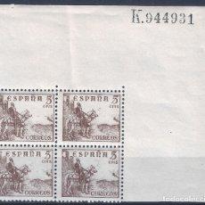 Sellos: EDIFIL 1044 CID Y GENERAL FRANCO 1949-1953 (BLOQUE DE 4). MNH **. Lote 180100440
