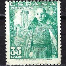 Selos: ESPAÑA 1948-1954 - GENERAL FRANCO - 35 CÉNTIMOS - EDIFIL 1026 MNH* - NUEVO SIN FIJASELLOS. Lote 180155617