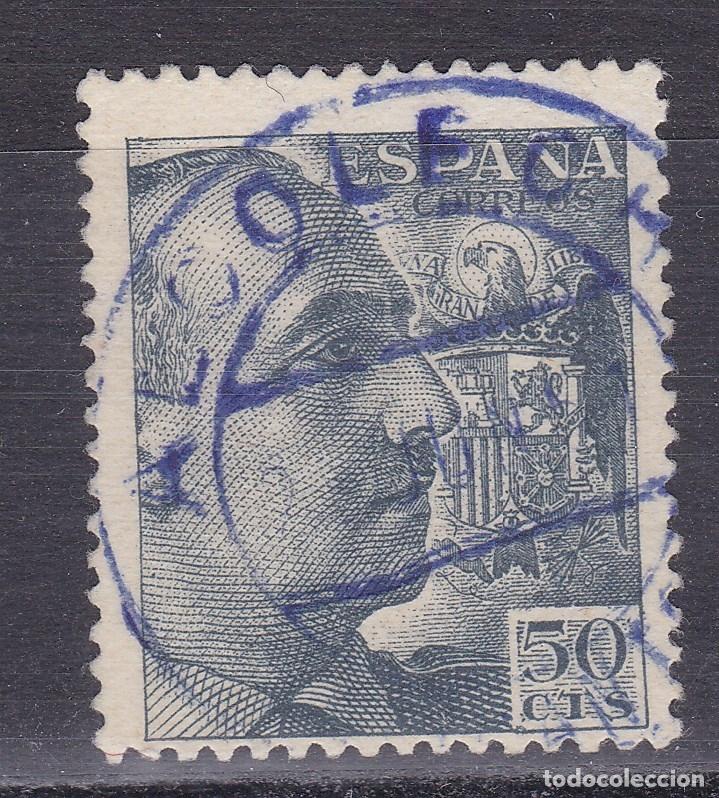 CC16- FRANCO MATASELLOS AZUL ALCOLECHA VALENCIA (Sellos - España - Estado Español - De 1.936 a 1.949 - Usados)