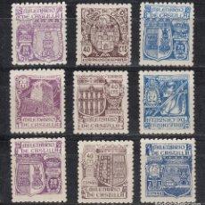 Sellos: 1944 EDIFIL 974/82* NUEVOS CON CHARNELA. MILENARIO DE CASTILLA. Lote 180208966