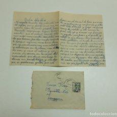 Sellos: 1948 CARTA CON SOBRE Y SELLO ONIL ZARAGOZA. Lote 180293280