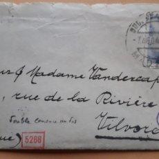Sellos: CARTA CIRCULADA DESDE MADRID A VILVORDE (BELGICA) CON DOBLE CENSURA: GUBERNATIVA + CENSURA NAZI. Lote 180474011