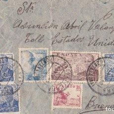 Sellos: BONITA CARTA CON CENSURA DE SALVATIERRA DEL MIÑO A BUENOS AIRES. 1941. Lote 181399328