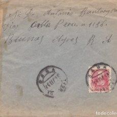 Sellos: CARTA CON CENSURA MILITAR DE LA CORUÑA: DE SADA A BUENOS AIRES. CURIOSO SELLO LOCAL AL DORSO. 1938. Lote 181402478