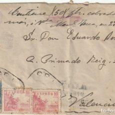 Sellos: SOBRE CON MATASELLOS SALUDO A FRANCO ¡ARRIBA ESPAÑA! Y RODILLO FRANCO, FRANCO, ARRIBA ESPAÑA (1940). Lote 181988265