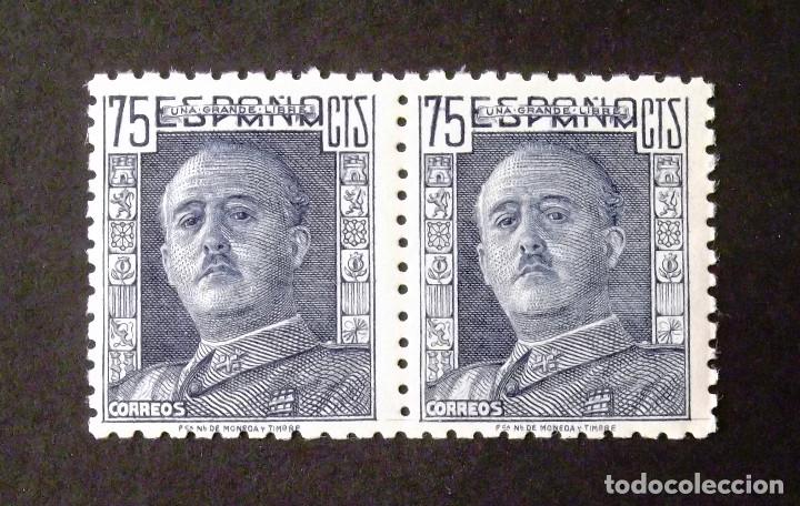 999, DOS SELLOS NUEVOS, SIN CH., EN PAREJA. FRANCO. (Sellos - España - Estado Español - De 1.936 a 1.949 - Nuevos)