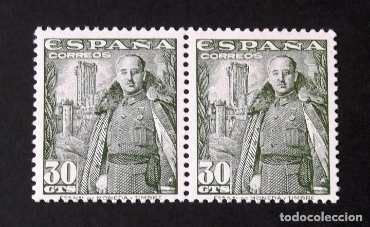 1025, DOS SELLOS NUEVOS, SIN CH., EN PAREJA. MOTA. (Sellos - España - Estado Español - De 1.936 a 1.949 - Nuevos)