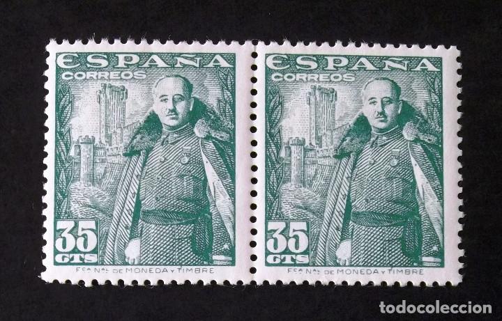 1026, DOS SELLOS NUEVOS, SIN CH., EN PAREJA. MOTA. (Sellos - España - Estado Español - De 1.936 a 1.949 - Nuevos)