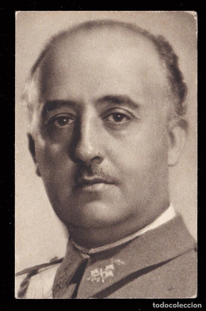 *** TARJETA DEL GENERAL FRANCO POR JALÓN ÁNGEL. SIN USAR. *** (Sellos - España - Estado Español - De 1.936 a 1.949 - Cartas)