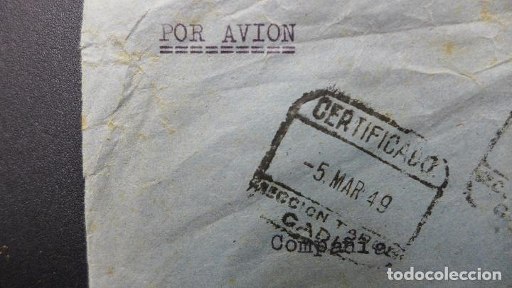 Sellos: CARTA CADIZ A BARCELONA POR AVION CON 2 SELLOS DE 70 CTS Y OTRO DE 5 CTS AÑO 1949 VAPOR TURIA - Foto 2 - 183596205