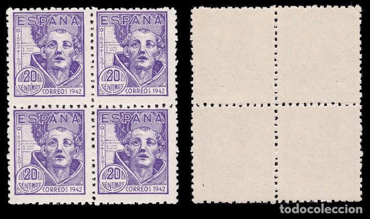 Sellos: 1942.IV Cent.S.Juan de la Cruz.Serie Nuevo** MNH.Blq 4. Edifil.936-939 - Foto 2 - 184097337