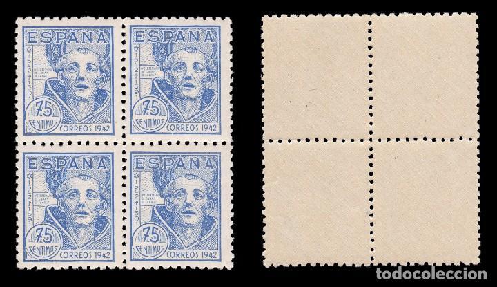 Sellos: 1942.IV Cent.S.Juan de la Cruz.Serie Nuevo** MNH.Blq 4. Edifil.936-939 - Foto 4 - 184097337