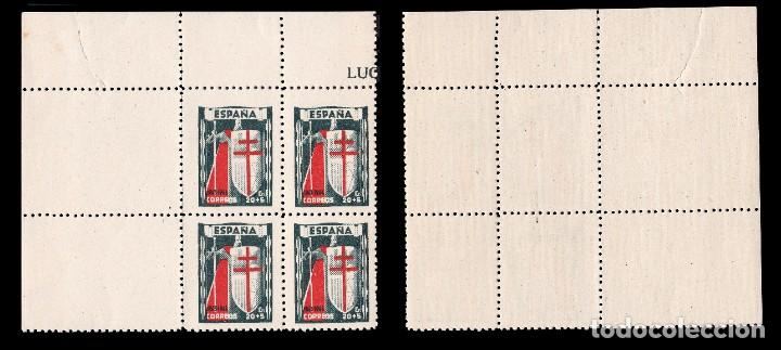 Sellos: 1943.Pro Tuberculosos.Serie Nuevo**.MNH.Bloque 4.Edifil.970-973 - Foto 3 - 184132916