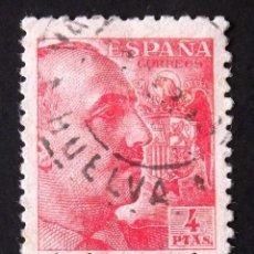 """Sellos: 933, SELLO USADO, MATASELLO: """"HUELVA"""". FRANCO.. Lote 184619866"""