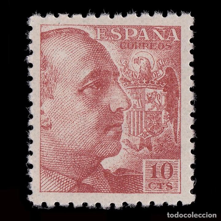 1940-45. GENERAL FRANCO. 10C. CAST. NARANJA. NUEVO**.MNH. EDIFIL.920 (Sellos - España - Estado Español - De 1.936 a 1.949 - Nuevos)