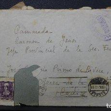 Sellos: CARTA ALCALA DE HENARES A JEREZ SELLO DE 40 CTS MARCA CENSURA MILITAR CORREOS AÑO 1940. Lote 184791561