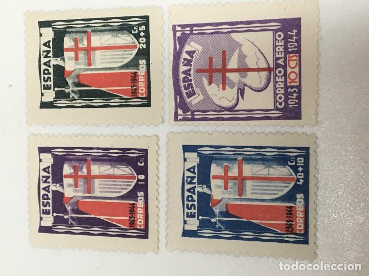 1943 PRO TUBERCULOSOS EDIFIL 970-973 NUEVOS. VER FOTOS Y DESCRIPCIÓN (Sellos - España - Estado Español - De 1.936 a 1.949 - Nuevos)