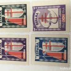 Sellos: 1943 PRO TUBERCULOSOS EDIFIL 970-973 NUEVOS. VER FOTOS Y DESCRIPCIÓN. Lote 185896927