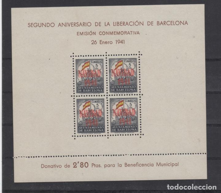 Sellos: 1941 Hojita Postal Navidad Barcelona Edifil 31/32** VC 80,00€ - Foto 4 - 185938307