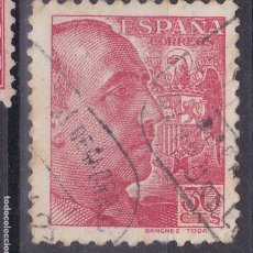 Sellos: TT20-FRANCO 30 CTS SÁNCHEZ TODA USADO MATASELLOS CAJA POSTAL GINZO DE LIMIA ORENSE. Lote 186193017