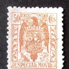 Sellos: ESPECIAL MÓVIL, AÑO 1937, 50 C., SIN PÍE DE IMPRENTA. ESTADO ESPAÑOL.. Lote 186310948