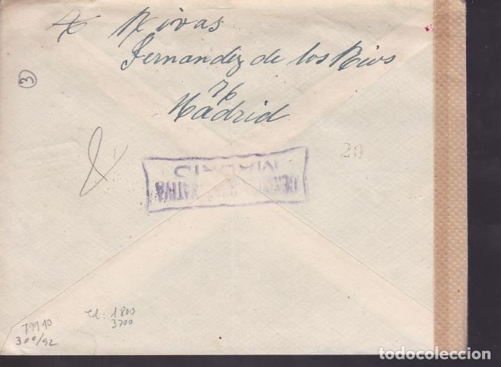 Sellos: F6-21- Carta Madrid - ALEMANIA 1943. Reexpedida. Censuras Española y Faja OKW Alemana - Foto 2 - 186370586