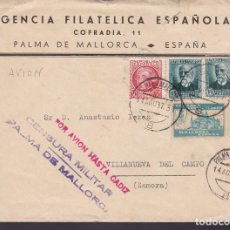 Sellos: F6-22- CARTA PALMA MALLORCA.1937. . AGENCIA FILATÉLICA ESPAÑOLA. INTERESANTE TEXTO SELLOS LOCALES. Lote 186370795