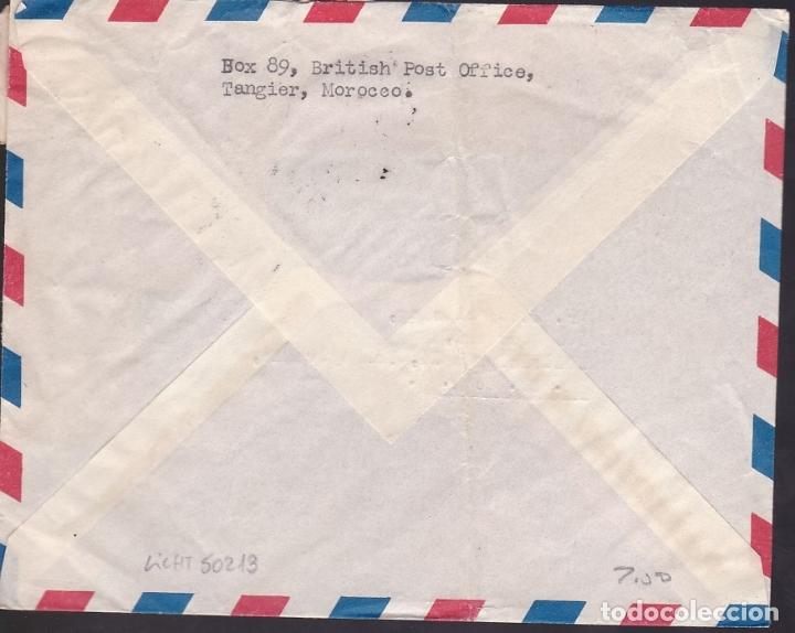 Sellos: F6-33- Carta TANGER-USA 1952. Franqueo Mixto Franco, La Cierva y Tanger - Foto 2 - 186372021