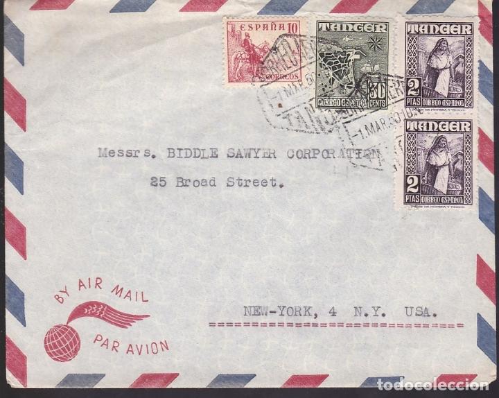 F6-34- CARTA TANGER- USA 1950 (Sellos - España - Estado Español - De 1.936 a 1.949 - Cartas)