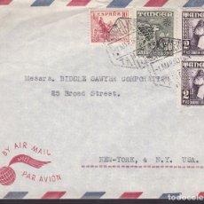 Sellos: F6-34- CARTA TANGER- USA 1950. Lote 186372137