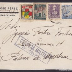Sellos: F6-34- CARTA BARCELONA -PALMA 1939. CENSURA . Lote 186372645
