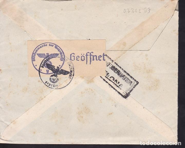Sellos: F6-35- Carta BARCELONA - FRANCIA 1943. Faja censura Alemana. Texto Boda en Ampurias - Foto 2 - 186372768