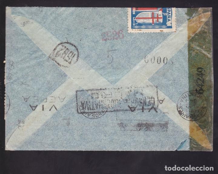 Sellos: F6-35- Certificado MADRID -BUENOS AIRES 1943 . TUBERCULOSOS. Censuras - Foto 2 - 186372917