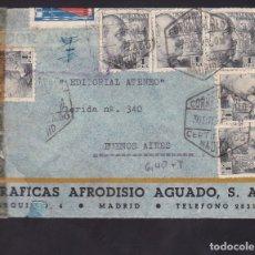 Sellos: F6-35- CERTIFICADO MADRID -BUENOS AIRES 1943 . TUBERCULOSOS. CENSURAS. Lote 186372917