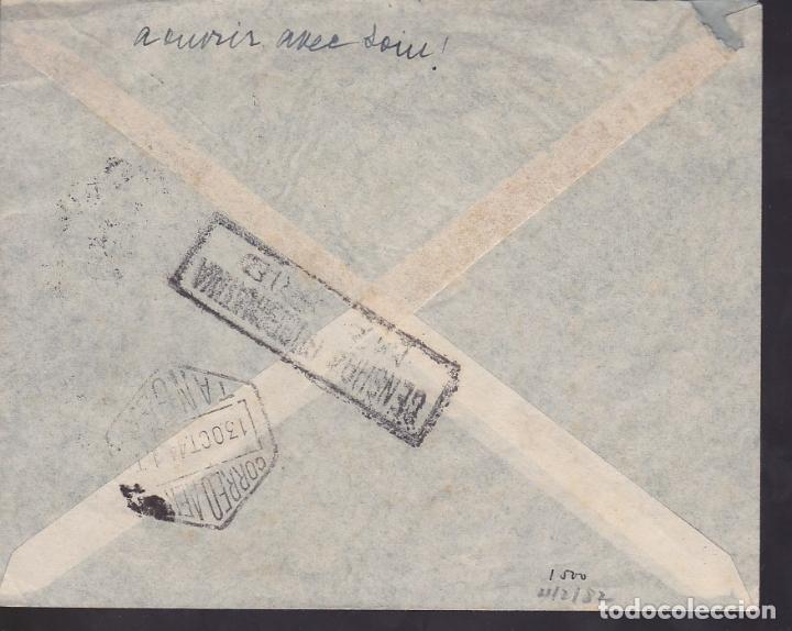 Sellos: F6-36- Carta MADRID-TANGER. 1944. Primer Dia Thebussem. Censura Tanger.Lujo - Foto 2 - 186373140