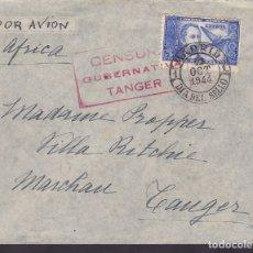 Sellos: F6-36- CARTA MADRID-TANGER. 1944. PRIMER DIA THEBUSSEM. CENSURA TANGER.LUJO. Lote 186373140