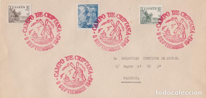 CAMPO DE CRIPTANA - CIUDAD REAL (Sellos - España - Estado Español - De 1.936 a 1.949 - Cartas)