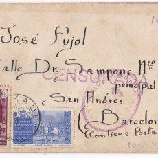 Francobolli: F6-5 CARTA EJÉRCITO MARROQUÍ XAUEN 1942. RARA CENSURA . CON TEXTO Y BONITA POSTAL. MENDIGO TETUAN. Lote 186463921